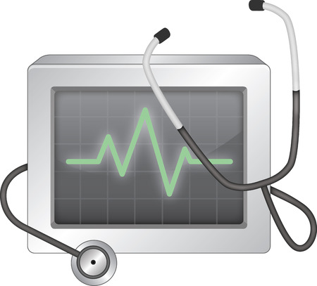 taking pulse: EKG monitor