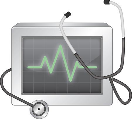 EKG monitor Vector