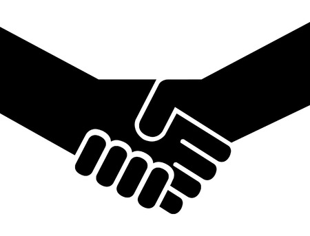 Regular people shaking hands 向量圖像