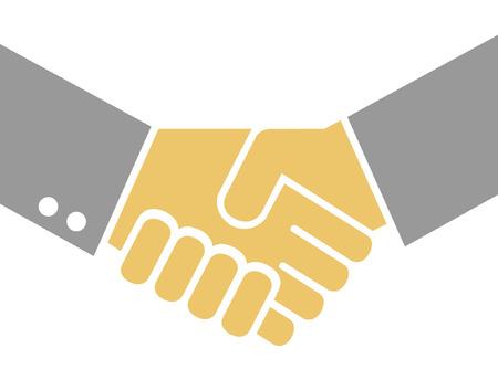 hombres ejecutivos: Empresarios agitando las manos en un acuerdo Vectores