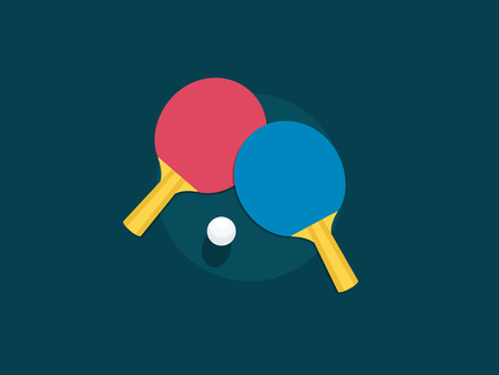 Table tennis racket Illustration