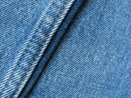 Dettagli delle cuciture di un blu jeans pantaloni.  Archivio Fotografico