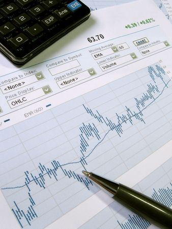 Stock market chart for investor analysis. Stock Photo - 437585