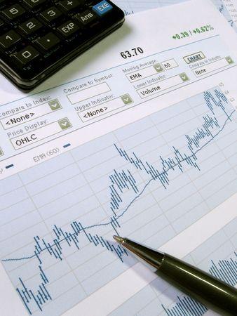 Tabella del mercato azionario per analisi dellinvestitore.