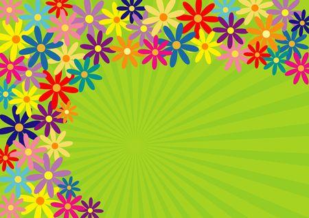 Colorful springtime flower background Stock Photo