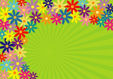 Colorful springtime flower background Stock Photo