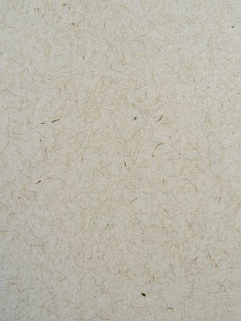 Vista ravvicinata di un foglio di carta riciclata, mostrando la texture e fibre