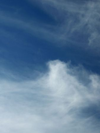 immaterial: Cirrus and cirrostratus clouds on a winter sky