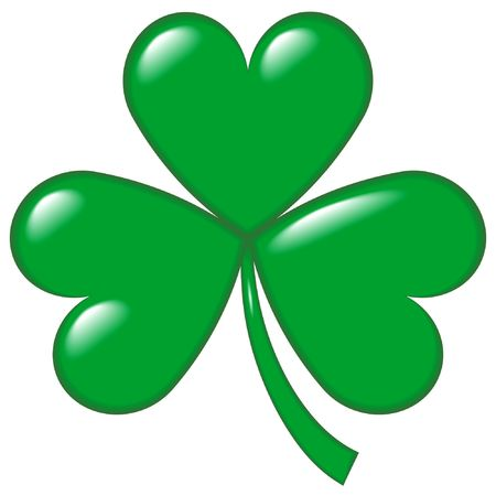 An illustration of a shamrock, or hop clover, symbol of Ireland and of St. Patrick's Day (a legend says that the saint used it to explain the Holy Trinity). Stock Illustration - 776723