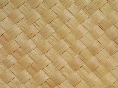 Close-up view of a straw mat made from carnauba palm. The carnauba tree (Copernicia prunifera) is endemic to Northeast Brazil and is known as  Stock Photo - 2461410