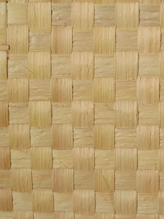 Close-up view of a straw mat made from carnauba palm. The carnauba tree (Copernicia prunifera) is endemic to Northeast Brazil and is known as