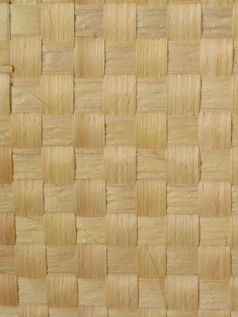 Close-up vista di una stuoia di paglia di carnauba fatta di palma. L'albero di carnauba (Copernicia prunifera) � endemica a nord-est del Brasile, ed � noto come