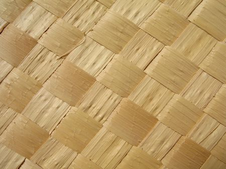 Close-up view of a straw mat made from carnauba palm. The carnauba tree (Copernicia prunifera) is endemic to Northeast Brazil and is known as  Stock Photo - 2461411