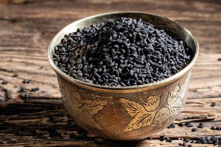 Black cumin seeds in a bowl