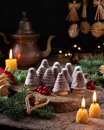 Beehives - traditional Czech Christmas cookies Banco de Imagens
