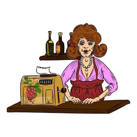 saleswoman: saleswoman color
