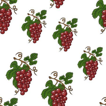 grapes wallpaper Vector