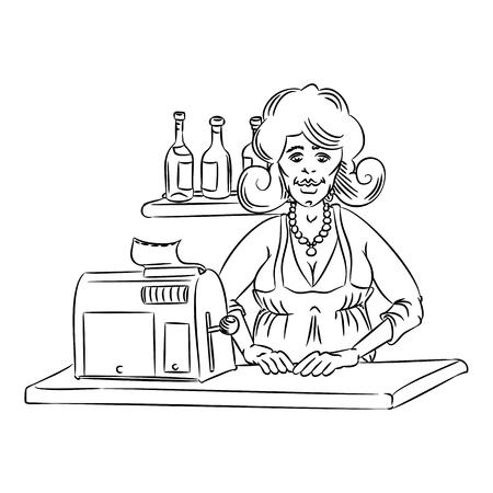 saleswoman: saleswoman simple Illustration