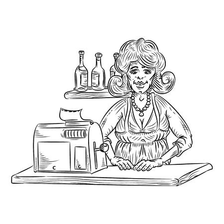 saleswoman: saleswoman line