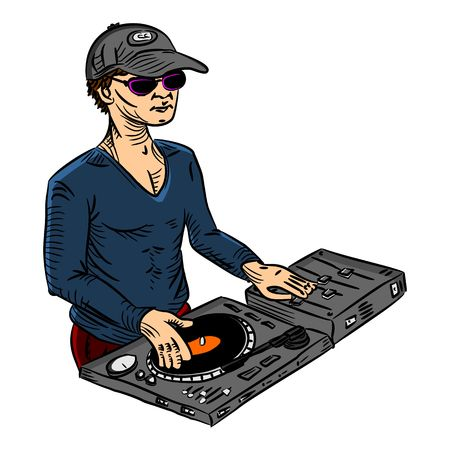 deejay color Vector
