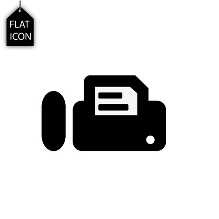 printer fax icon isolated on white background. Modern flat pictogram, business, marketing, internet concept. Trendy Simple symbol for web site design button to mobile app. Logo illustration