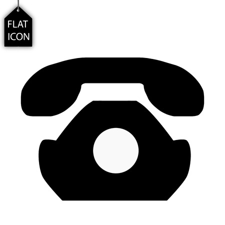Retro phone icon. Old telephone sign. Linear icons on white background black