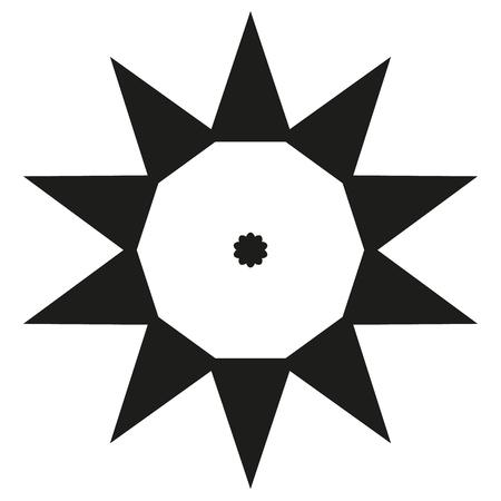 Ten sides pointed star logo Illustration