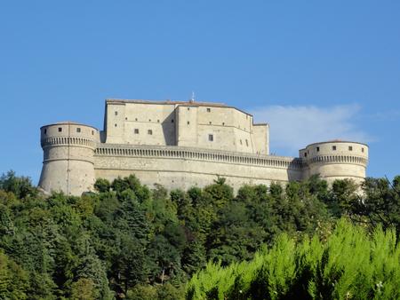 Medieval Fortification in center Italy. Borgo di San Leo, Emilia Romagna