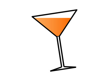 Vectorial glass for drink, cocktail, party concepts.
