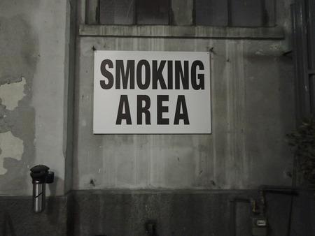 smoking pipe: Dusty alternative urban smoking area
