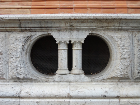 xx century: Architectural detail of natural history museum, Milan