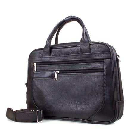 black leather mens bag