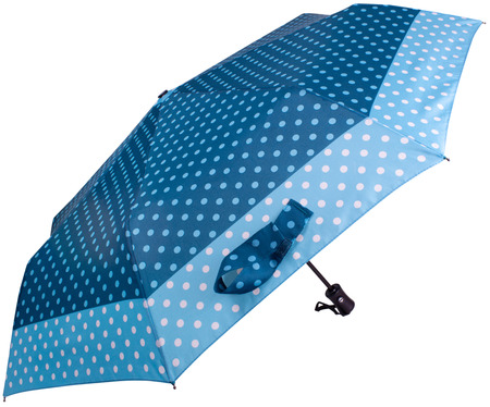 Steelblue color Dotted umbrella isolated on white background. Side view Banco de Imagens - 124929488