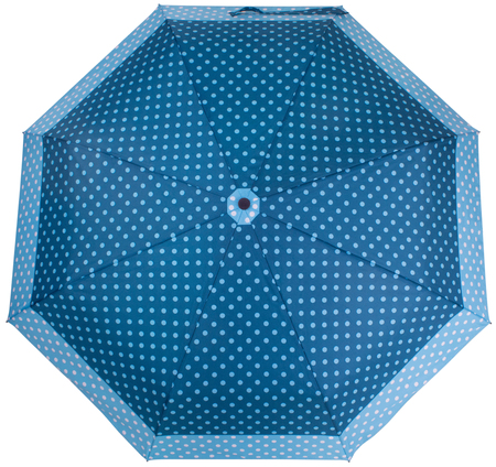 Steelblue color Dotted umbrella isolated on white background. Top view Banco de Imagens - 124929491