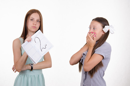 unsatisfactory: The teacher once again delivered a deuce poor student