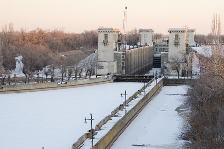 View of the Gateway 2 Volga-Don Canal Lenin winter Editorial