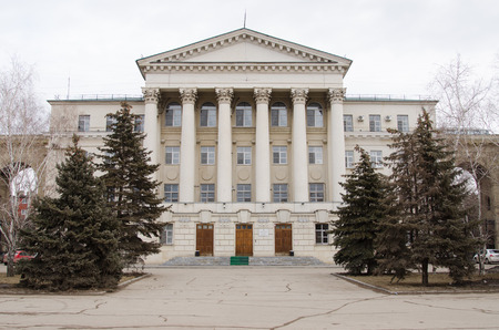 inland waterways: Administration building of the Volga-Don Basin of inland waterways main facade with the entrance