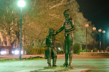 volgograd: Monument to the first teacher in Krasnoarmeysk district of Volgograd, sculptor Anatoly plowing Editorial