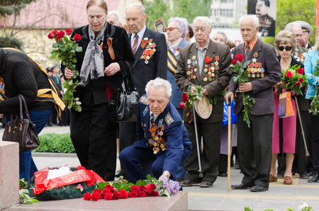 regiment: The event dedicated to the 70th anniversary of Victory in Great Patriotic War of 1941-1945, Volgograd, Krasnoarmeysky district, the Museum-Reserve Old Sarepta, Freedom Square 1
