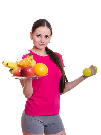 promotes: Hermosa joven atleta chica pasa europeos ejercicio f�sico y promueve un estilo de vida saludable