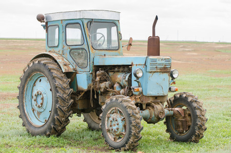 wheeled tractor: Solodniki, Russia - May 13, 2015: Diesel wheeled tractor T-40 production Lipetsk Tractor Plant