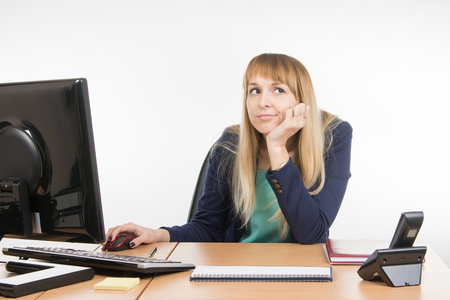 scolded: Upset a specialist office at the workplace Stock Photo