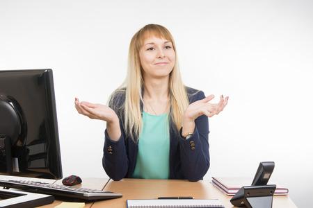 important: Beautiful girl secretary meets an important customer