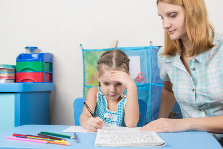 tutor: Five-year girl thought doing a spelling tutor