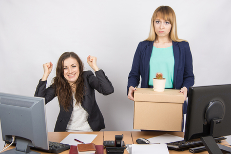 enmity: Office worker is happy that her colleague was dismissed from work