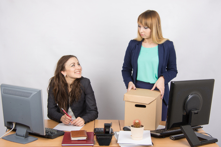 enmity: Office employee satisfied dismissal colleagues