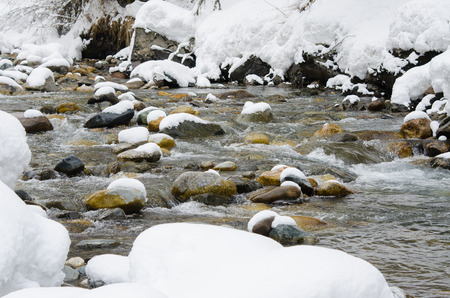 snowcovered: Snow-covered mountain river