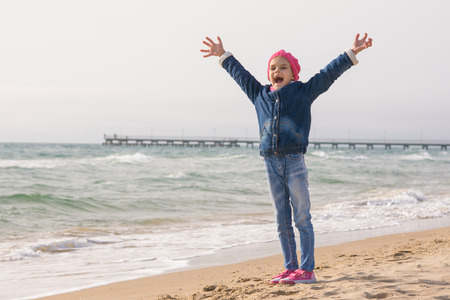 rejoices: Seven-year girl rejoices arrival of the sea