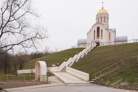 martyr: Varvarovka, Russia - March 15, 2016: Barbara the Great Martyr Church in the village Varvarovka, a suburb of Anapa, Krasnodar Krai