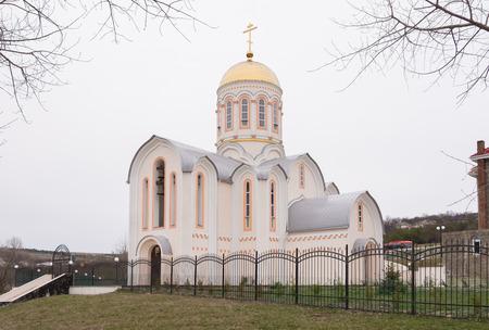 martyr: Varvarovka, Russia - March 15, 2016: Side view of the Church of Great Martyr Barbara in Varvarovka village, a suburb of Anapa, Krasnodar Krai